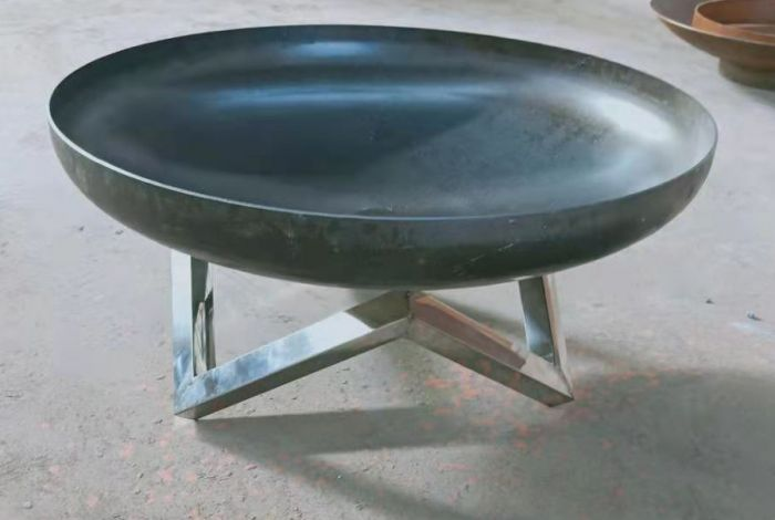 COATED FINISH DESIGNER QUALITY 3MM STEEL 60CM OPEN FIRE PIT BOWL WITH STAND **NEW**