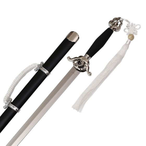 Chinese Taichi Sword with black scabbard and white cord