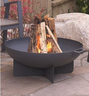 BLACKENED FINISH DESIGNER QUALITY 2MM STEEL 60CM OPEN FIRE PIT SQUARE WITH STAND **NEW**