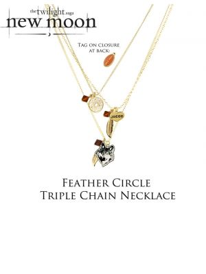 NECA--The Twilight Saga: New Moon - Jewellery Necklace Trip Chn Feather Cir