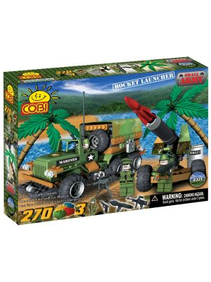 Construction Sets--Small Army - 270 Piece Rocket Launcher Military Vehicles Construction Set