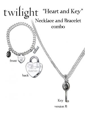 NECA--Twilight - Jewellery Heart & Key Necklace/Bracelet