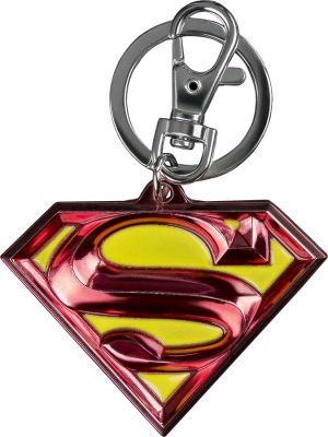 Ikon Collectables--Superman - Logo Colour Enamel Keychain