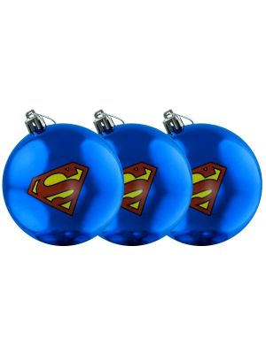 Christmas Decorations--Superman - Logo Christmas Bauble 3-Pack