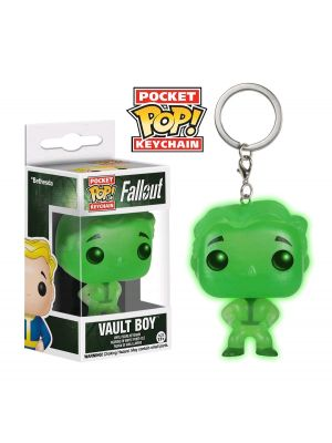 Pop! Vinyl--Fallout - Vault Boy Green Glow in the Dark US Exclusive Pocket Pop! Keychain [RS]