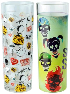 Kitchenware--Suicide Squad - Skulls and Pattern Tumbler Set of 2