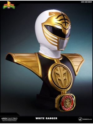 Life-Size Busts--Power Rangers - White Ranger Life-Size Bust