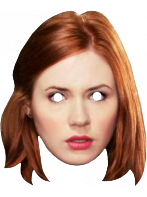 Cutouts--Doctor Who - Amy Pond Cardboard Mask
