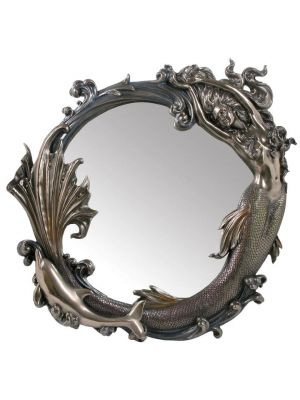 Wall Mirror - Mermaid and Dolphin