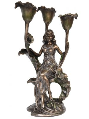 Candle holder - Lady with Calla Lily