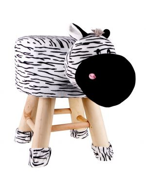 Kids Zebra Face Stool