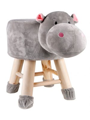 Kids Hippo Face Stool