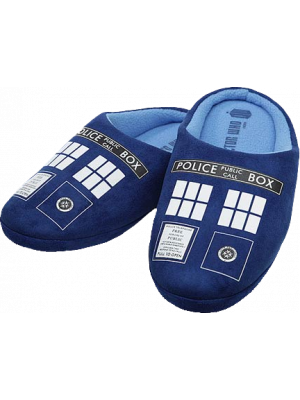 Doctor Who--Doctor Who - TARDIS Printed Slippers Mens 8