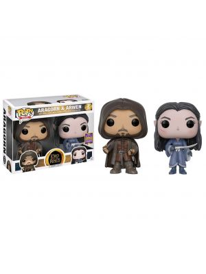 LOTR Lord of the Rings Aragorn & Arwen 2-Pack SDCC 2017 US Exclusive Funko POP