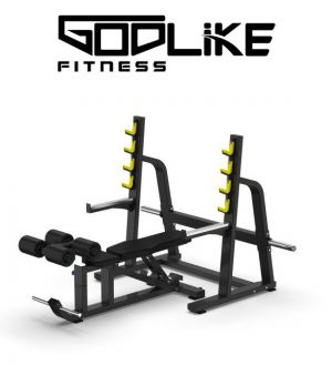 GODLIKE CUSTOM DESIGNED UNIVERSAL BENCH PRESS WITH RACK SPOTTERS