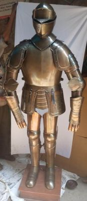 Full suit of steel Knights armour with stand