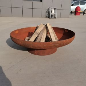 NATURAL RUST FINISH DESIGNER QUALITY 3MM STEEL 90CM OPEN FIRE PIT BOWL NO HANDLE **NEW**