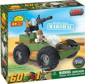 Construction Sets--Small Army - 60 Piece Marshal Military Vehicle Construction Set