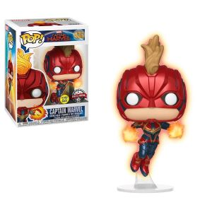 Pop! Vinyl--Captain Marvel - Captain Marvel Masked Flight Glow US Exclusive Pop! Vinyl