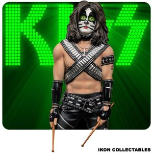 Ikon Collectables--KISS - Catman Peter Criss 1:6 Scale Statue