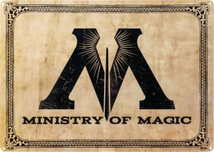 Artwork & Wall Pieces--Harry Potter - Ministry of Magic A3 Tin Sign