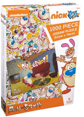 Ikon Collectables--Ren and Stimpy - You Eediot 1000 piece Jigsaw Puzzle
