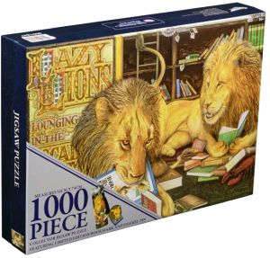 Ikon Collectables--Animalia - Lazy Lions 1000 piece Collector Jigsaw Puzzle