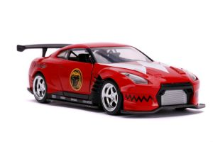Diecast Figures--Power Rangers - '09 Nissan GT-R Red 1:32 Scale Hollywood Ride