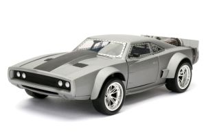 Diecast Figures--Fast & Furious - Dom's Ice Charger 1:24 Scale Hollywood Ride
