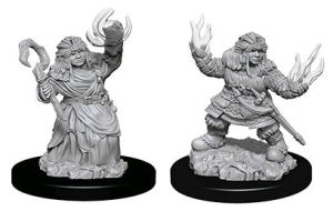 Miniatures--Pathfinder - Deep Cuts Unpainted Female Dwarf Summoner