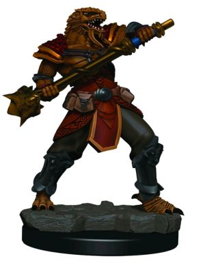 Miniatures--Dungeons & Dragons - Icons of the Realms Male Dragonborn Fighter Premium Miniature