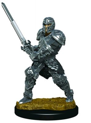 Miniatures--Dungeons & Dragons - Icons of the Realms Male Human Fighter Premium Miniature