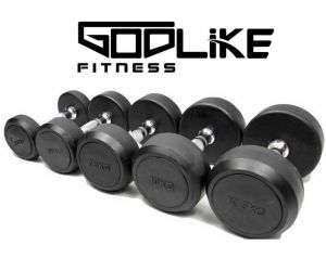 2 x 10KG RUBBER COATED COMMERCIAL DUMBBELLS