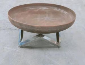 NATURAL RUST FINISH DESIGNER QUALITY 3MM STEEL 80CM OPEN FIRE PIT BOWL WITH STAND **NEW**