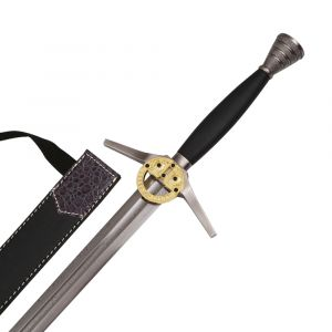TV Series Witcher Style Folded Steel Sword with Belt Scabbard