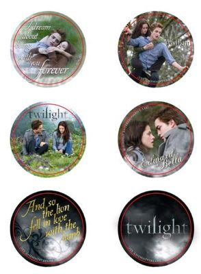 NECA--Twilight - Pin Set of 6 Style E Edward & Bella
